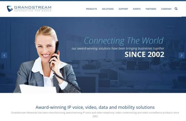 grandstream-webpage