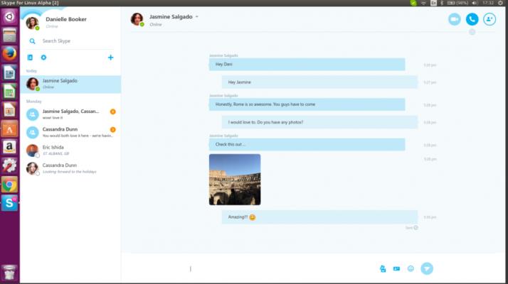 Skype in Linux Ubuntu using WebRTC